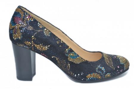 Pantofi cu toc Piele Naturala Bleumarin Corvaris Ada D016280