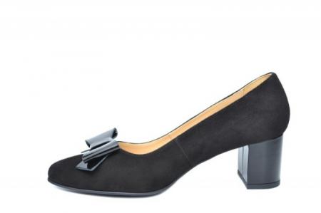 Pantofi cu toc Piele Naturala Negri Adela D01913 [1]