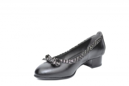 Pantofi cu toc Piele Naturala Negri Moda Prosper Adina D019092