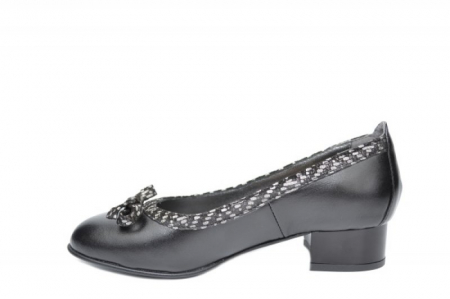 Pantofi cu toc Piele Naturala Negri Moda Prosper Adina D019091