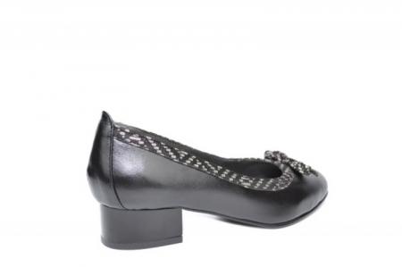 Pantofi cu toc Piele Naturala Negri Moda Prosper Adina D019093