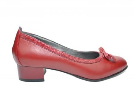 Pantofi cu toc Piele Naturala Grena Moda Prosper Adina D019100