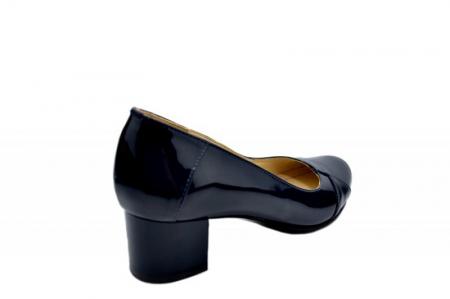 Pantofi cu toc Piele Naturala Bleumarin Agata D015573
