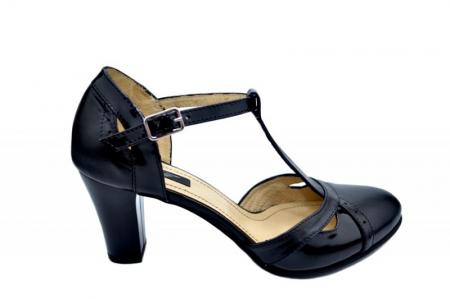Pantofi Dama Piele Naturala Negri Ailin D015780