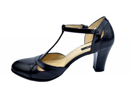 Pantofi Dama Piele Naturala Negri Ailin D015781