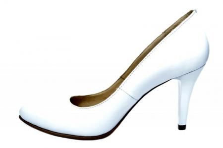 Pantofi cu toc Piele Naturala Albi Alla D01779 [1]