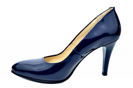 Pantofi cu toc Piele Naturala Bleumarin Alla D017811