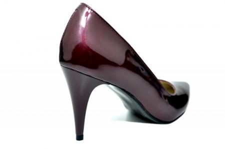 Pantofi cu toc Piele Naturala Mov Alyona D017843