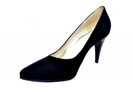 Pantofi cu toc Piele Naturala Negri Alyona D017852