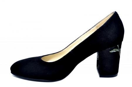 Pantofi cu toc Piele Naturala Negri Andressa D01819 [1]