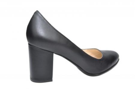 Pantofi cu toc Piele Naturala Negri Andressa D019173