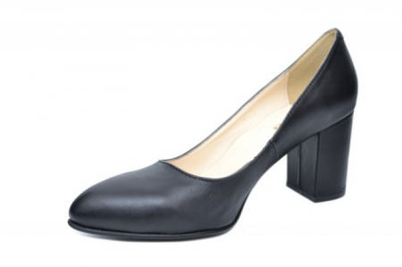 Pantofi cu toc Piele Naturala Negri Andressa D019172