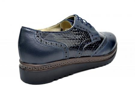 Pantofi Casual Piele Naturala Bleumarin Anouk D01787 [3]