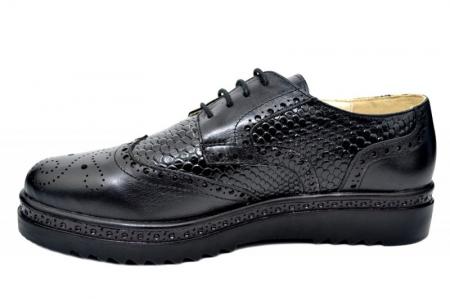 Pantofi Casual Piele Naturala Negri Anouk D017881