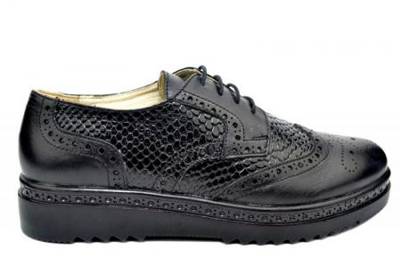 Pantofi Casual Piele Naturala Negri Anouk D017880