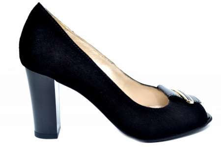 Pantofi Dama Piele Naturala Negri Belinda D01683 [0]