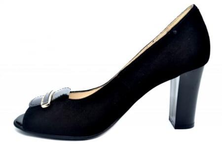 Pantofi Dama Piele Naturala Negri Belinda D016831