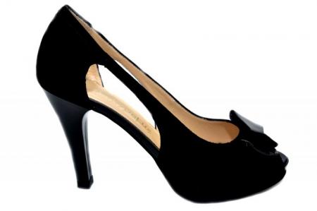 Pantofi Dama Piele Naturala Negri Belle D01324 [0]
