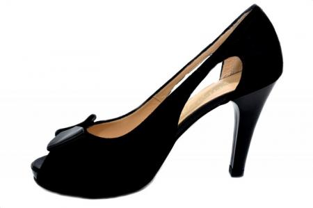 Pantofi Dama Piele Naturala Negri Belle D01324 [1]