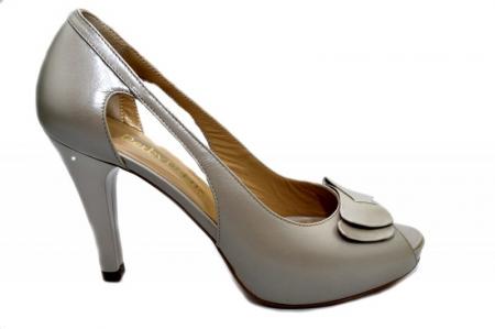 Pantofi Dama Piele Naturala Bej Belle D01325 [0]