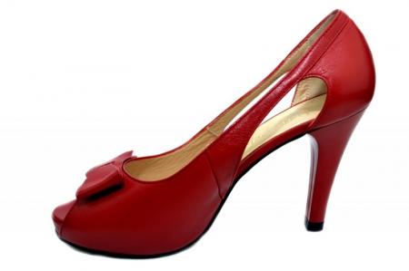 Pantofi Dama Piele Naturala Rosii Belle D01326 [1]