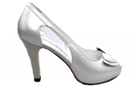 Pantofi Dama Piele Naturala Albi Belle D013270