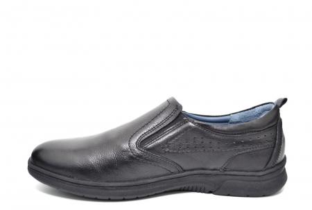 Pantofi Barbati Casual Piele Naturala Negri Benson B00021 [1]
