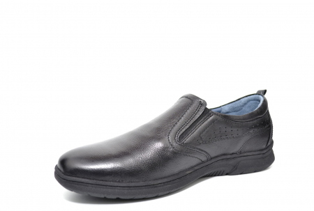 Pantofi Barbati Casual Piele Naturala Negri Benson B00021 [2]