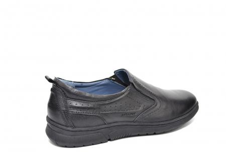 Pantofi Barbati Casual Piele Naturala Negri Benson B00021 [3]