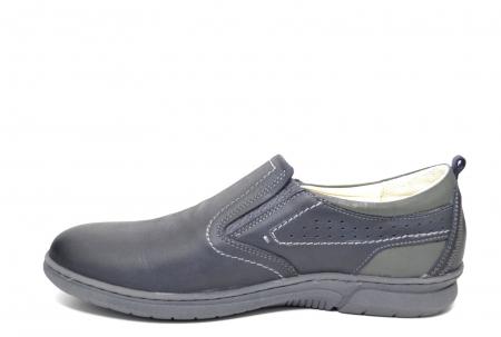 Pantofi Casual Barbati Piele Naturala Bleumarin Benson B00022 [1]