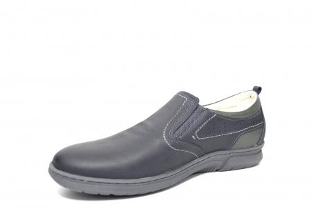 Pantofi Casual Barbati Piele Naturala Bleumarin Benson B00022 [2]