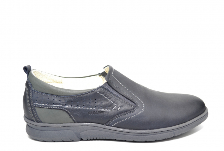 Pantofi Casual Barbati Piele Naturala Bleumarin Benson B00022 [0]