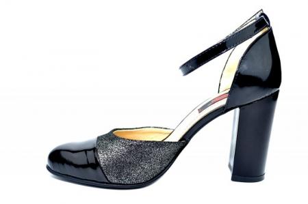 Pantofi Dama Piele Naturala Negri Brenda D018261