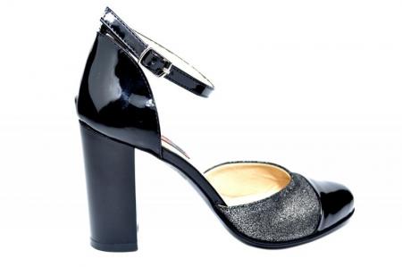 Pantofi Dama Piele Naturala Negri Brenda D018260