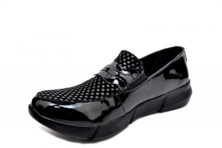 Pantofi Casual Piele Naturala Negri Bryanna D015852