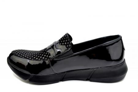 Pantofi Casual Piele Naturala Negri Bryanna D015851