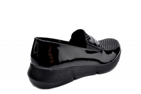 Pantofi Casual Piele Naturala Negri Bryanna D015853