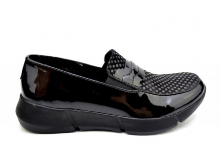 Pantofi Casual Piele Naturala Negri Bryanna D015850
