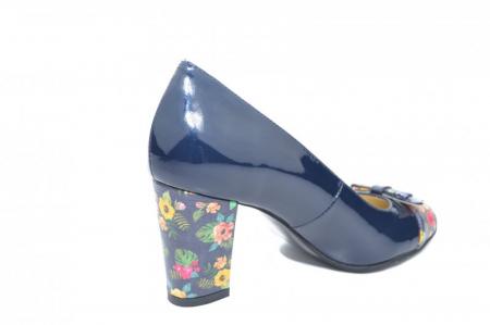 Pantofi cu toc Piele Naturala Bleumarin Cindy D018712