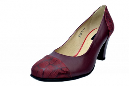 Pantofi cu toc Piele Naturala Grena Daia D016452