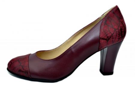 Pantofi cu toc Piele Naturala Grena Daia D016451