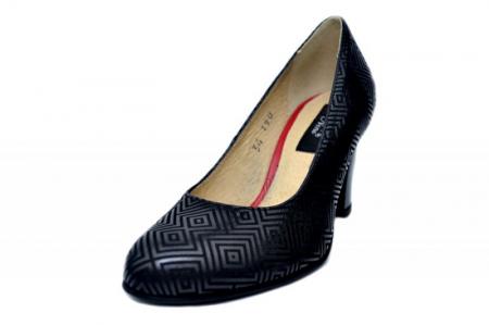 Pantofi cu toc Piele Naturala Negri Dalia D016462