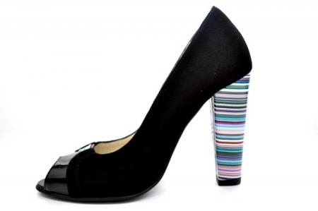 Pantofi cu toc Piele Naturala Negri Moda Prosper Eleonore D011071