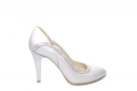 Pantofi cu toc Piele Naturala Bej Moda Prosper Gia D02023 [0]