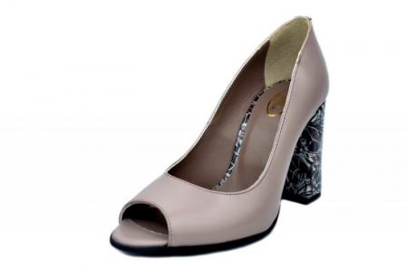 Pantofi Dama Piele Naturala Grej Moda Prosper Gina D01623 [2]