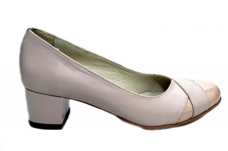 Pantofi cu toc Piele Naturala Bej Giorgia D013030