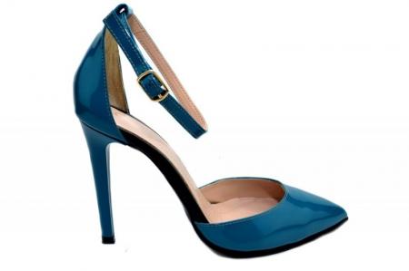 Pantofi Dama Piele Naturala Turquoise Giulio Desiree D013480