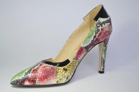 Pantofi cu toc Piele Naturala Guban Multicolori Bena D006462