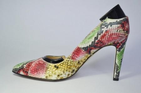 Pantofi cu toc Piele Naturala Guban Multicolori Bena D006461