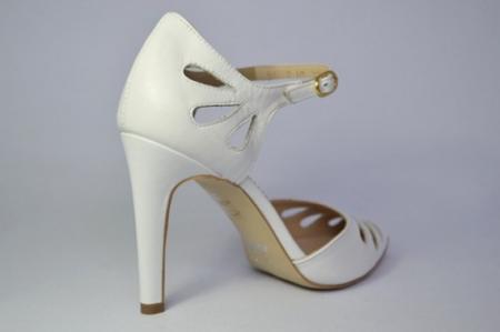 Pantofi Dama Piele Naturala Albi Guban Lenda D006485